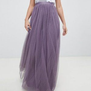 Needle & Thread Purple Tulle Skirt